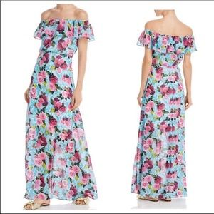 Betsey Johnson Floral Maxi Dress Size 6